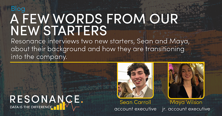 A Few Words From Our New Starters: Sean & Maya