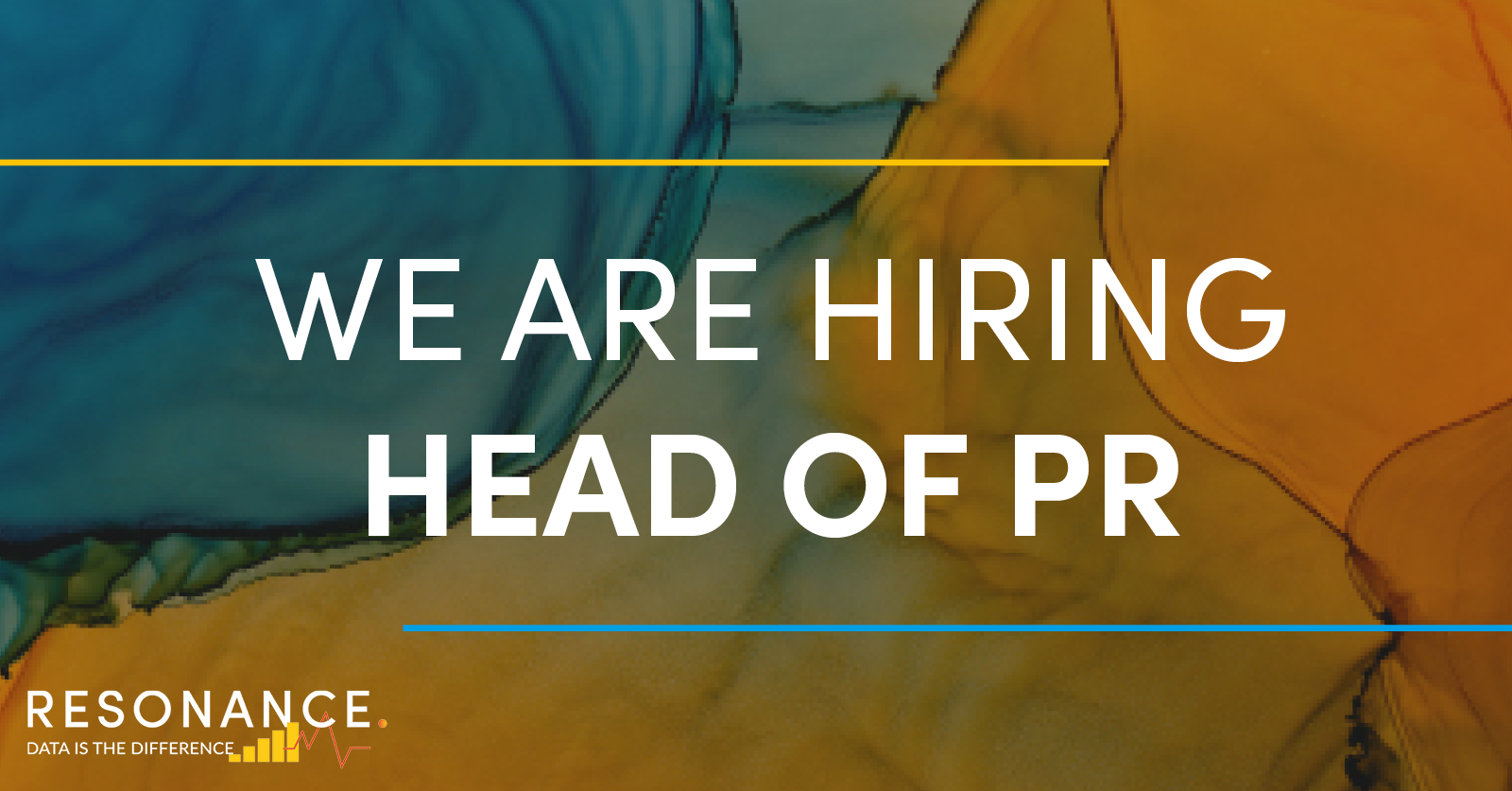 Resonance is growing and we are looking for a Head of PR